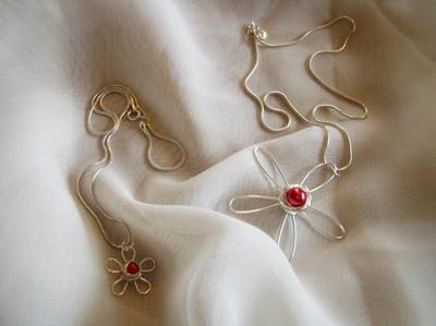 Mamma -Barn smycke Blomma