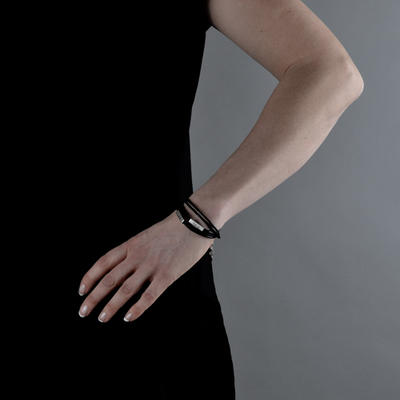 Armband Trippel med Kvadrat
