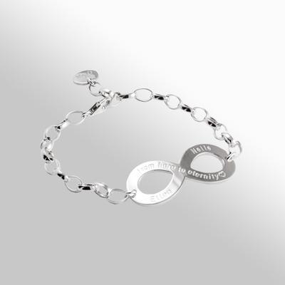Armband  Eternity - Silverlänk