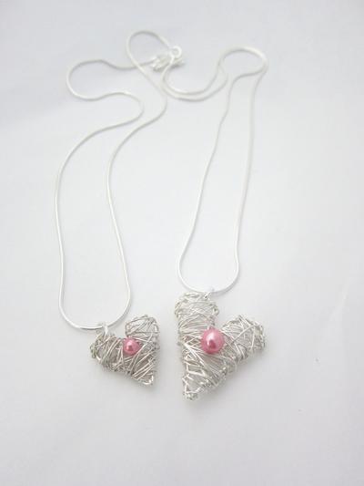 Mamma -Barn smycke Hjärta